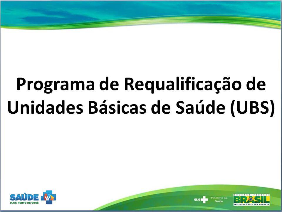 UBS – SELEÇÃO 2013  CONSTRUÇÃO  CRITÉRIOS DE PRIORIZAÇÃO  Municípios que proponham substituição de unidades alugadas  Municípios que proponham substituição de unidades inadequadas  Ampliação da cobertura de serviços de atenção básica Nos casos de UBS alugadas e inadequadas o município deverá informar quais serão as providências a serem tomadas:  Solicitar ao proprietário a adequação da UBS  Substituir por outra alugada e adequada
