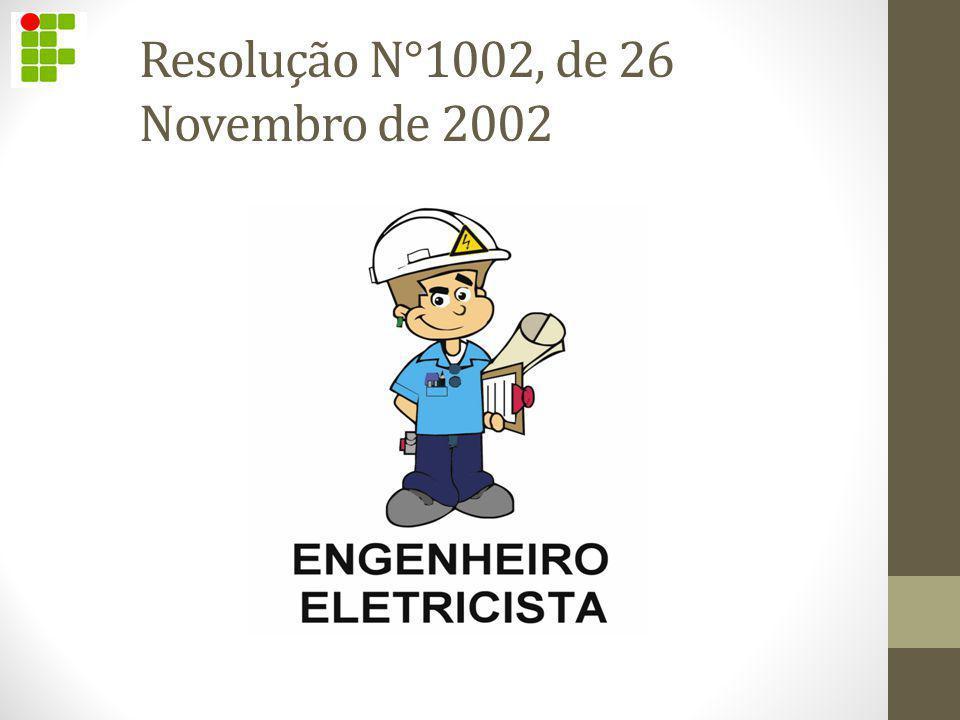 Resolução N°1002, de 26 Novembro de 2002