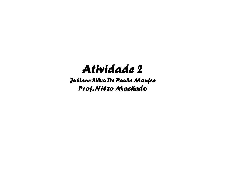 Atividade 2 Juliane Silva De Paula Manfro Prof. Nilzo Machado