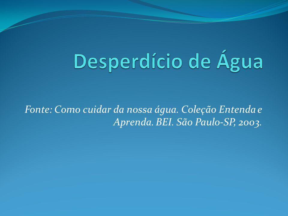 Fonte: Como cuidar da nossa água. Coleção Entenda e Aprenda. BEI. São Paulo-SP, 2003.