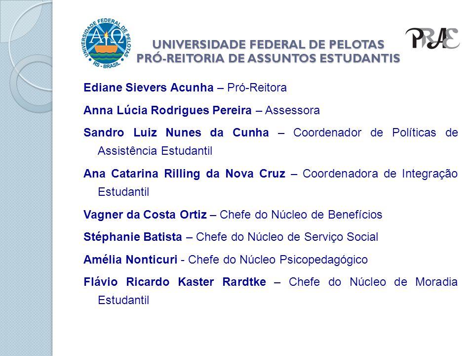 UNIVERSIDADE FEDERAL DE PELOTAS PRÓ-REITORIA DE ASSUNTOS ESTUDANTIS 100 vagas.
