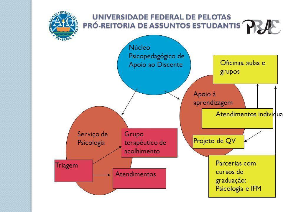 UNIVERSIDADE FEDERAL DE PELOTAS PRÓ-REITORIA DE ASSUNTOS ESTUDANTIS Núcleo Psicopedagógico de Apoio ao Discente Serviço de Psicologia Apoio à aprendiz
