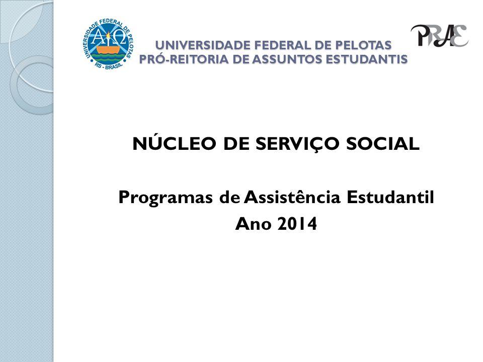 UNIVERSIDADE FEDERAL DE PELOTAS PRÓ-REITORIA DE ASSUNTOS ESTUDANTIS 02 salas de estudo.