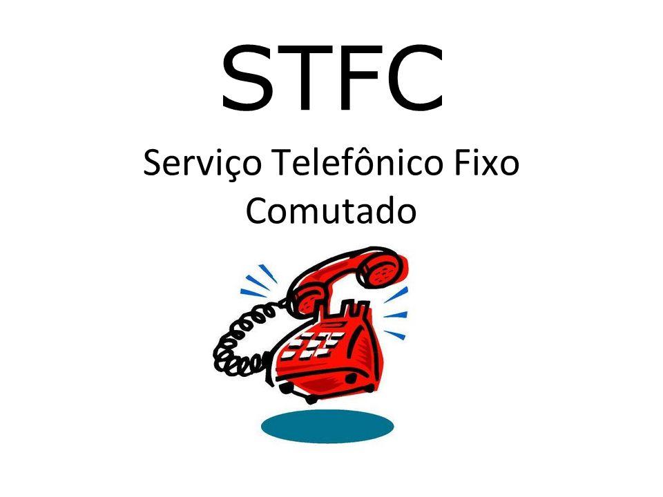 Definição Serviço telefônico fixo comutado é o serviço de telecomunicações que, por meio da transmissão de voz e de outros sinais, destina- se à comunicação entre pontos fixos determinados, utilizando processos de telefonia.