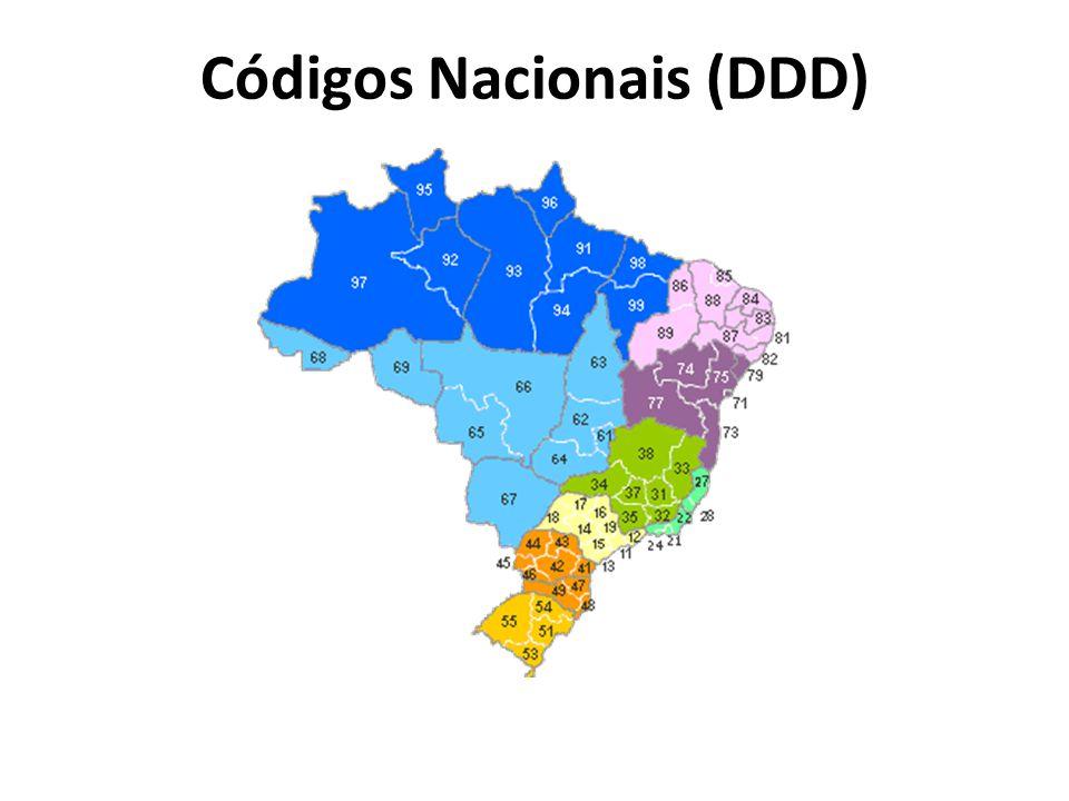 Códigos Nacionais (DDD)