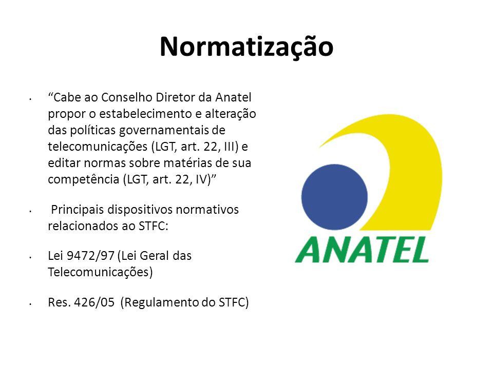 """Normatização """"Cabe ao Conselho Diretor da Anatel propor o estabelecimento e alteração das políticas governamentais de telecomunicações (LGT, art. 22,"""
