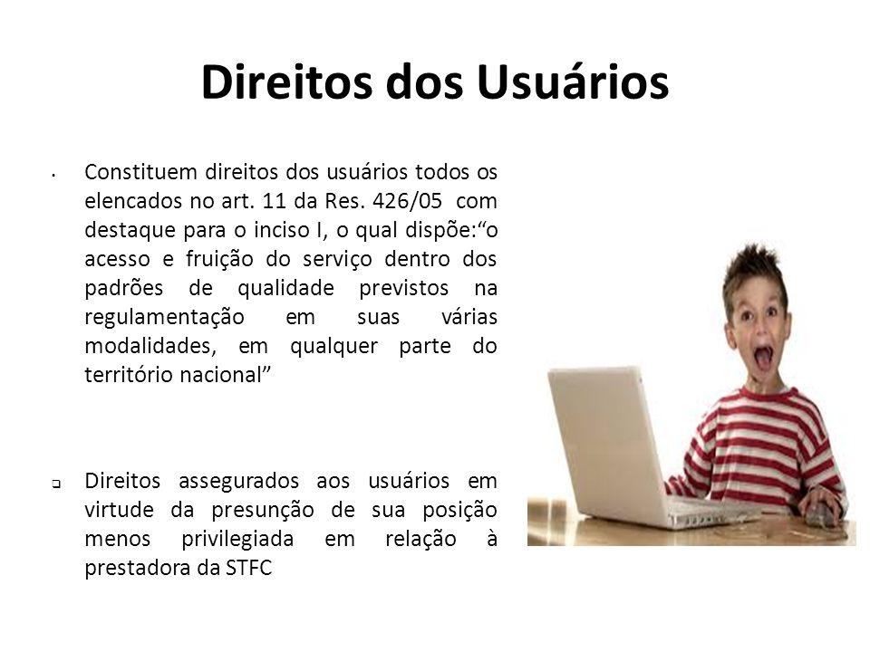 """Direitos dos Usuários Constituem direitos dos usuários todos os elencados no art. 11 da Res. 426/05 com destaque para o inciso I, o qual dispõe:""""o ace"""