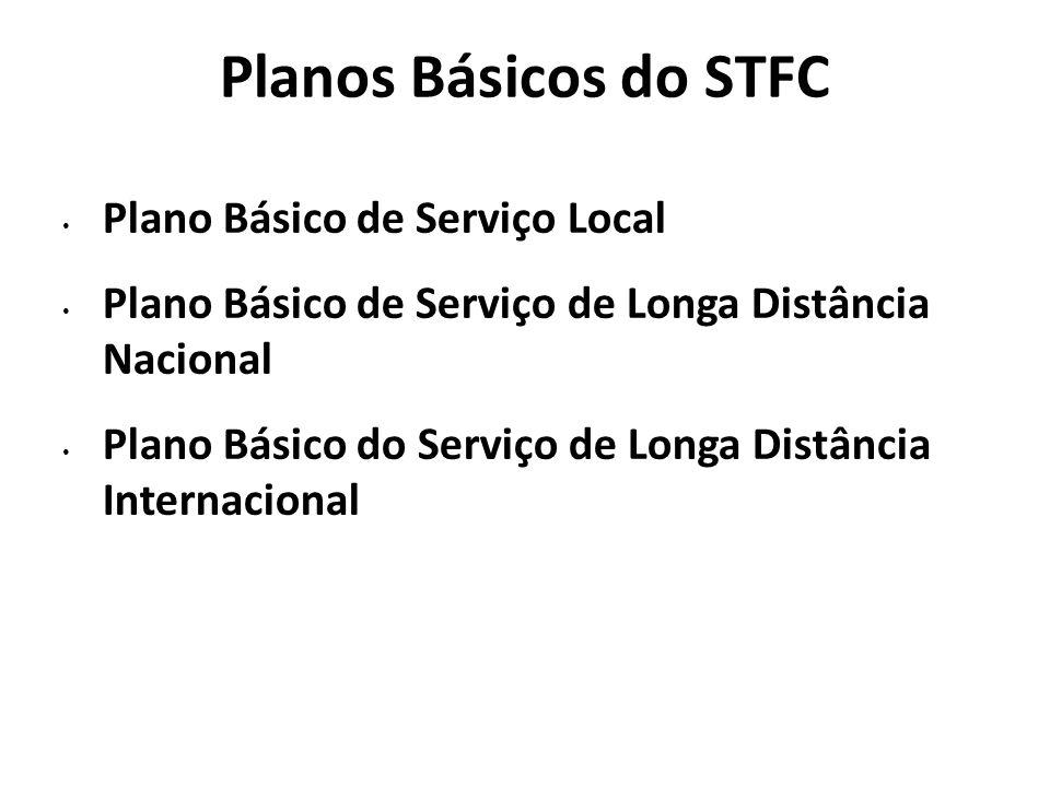 Planos Básicos do STFC Plano Básico de Serviço Local Plano Básico de Serviço de Longa Distância Nacional Plano Básico do Serviço de Longa Distância In