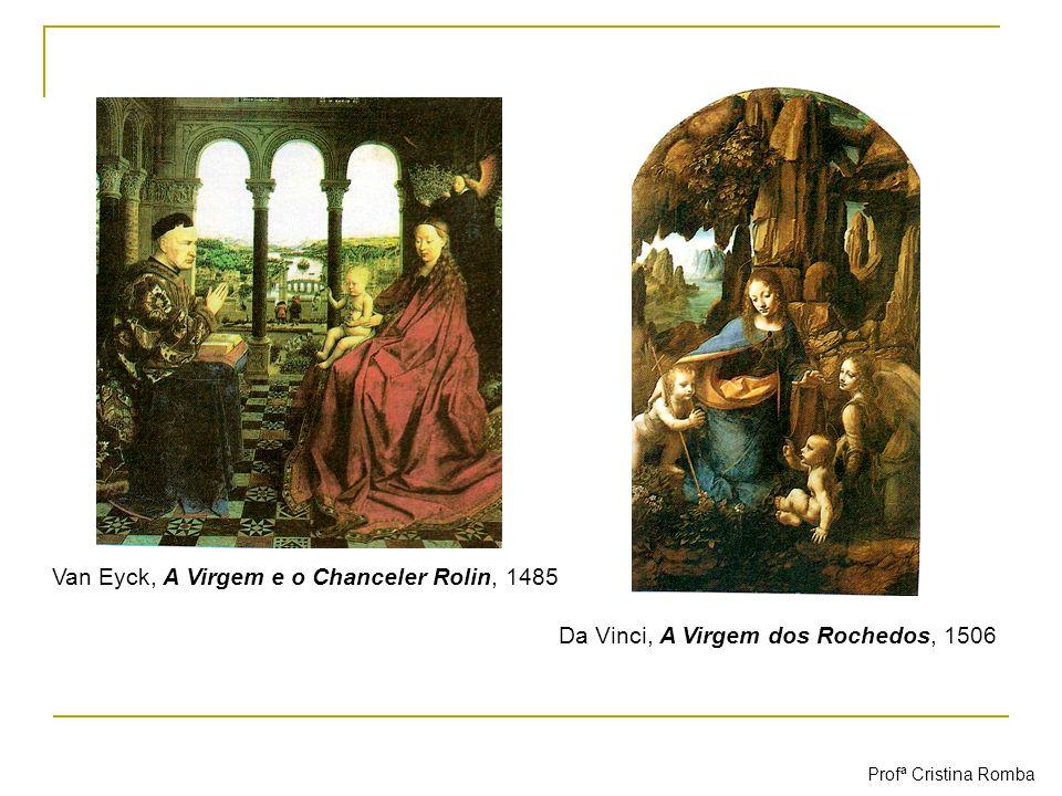 Van Eyck, A Virgem e o Chanceler Rolin, 1485 Da Vinci, A Virgem dos Rochedos, 1506 Profª Cristina Romba