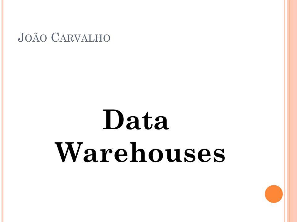 J OÃO C ARVALHO Data Warehouses