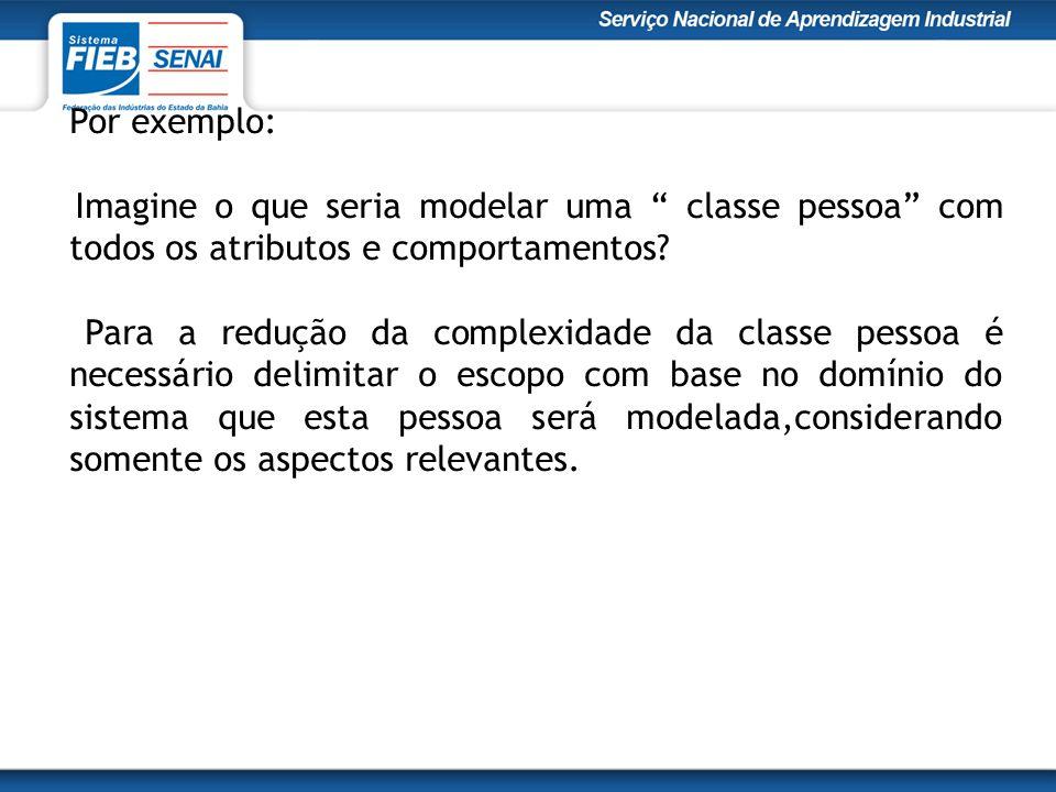 Por exemplo: Imagine o que seria modelar uma classe pessoa com todos os atributos e comportamentos.