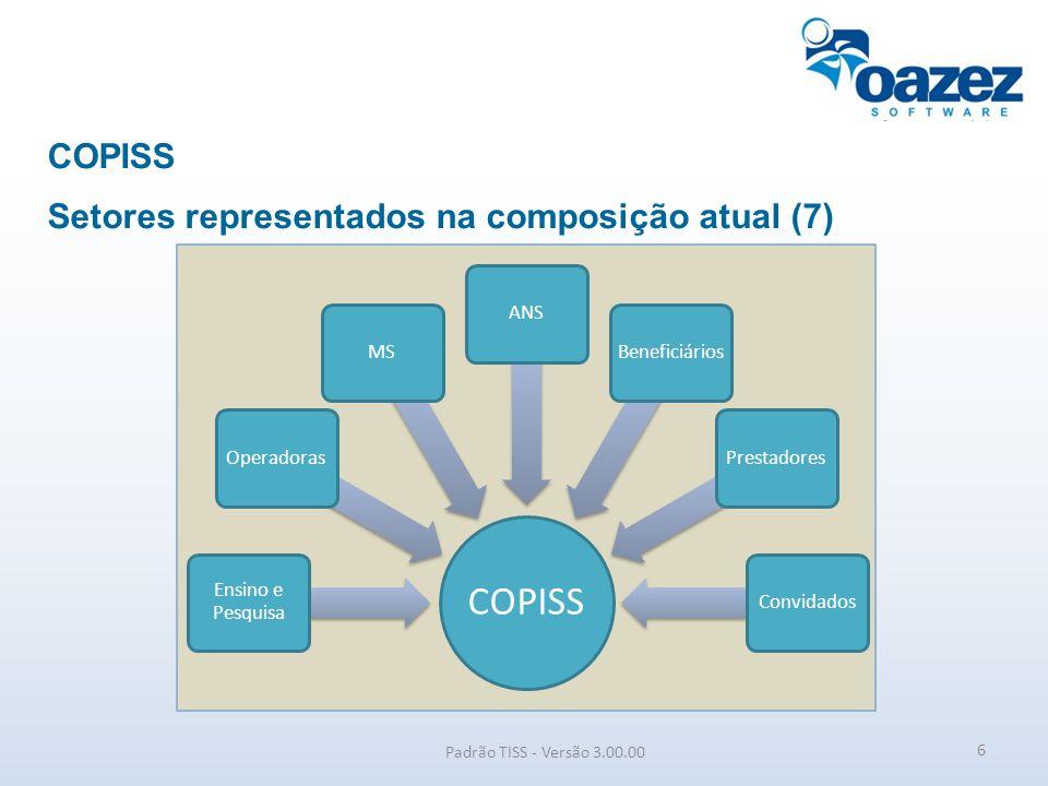 Padrão de Troca de Informações da Saúde Suplementar Componentes do Padrão TISS Padrão TISS - Versão 3.00.00 I ORGANIZACIONAL (regras operacionais) II CONTEÚDO E ESTRUTURA (arquitetura dos dados III REAPRESENTAÇÃO DE CONCEITOS EM SAÚDE (terminologias) IV SEGURANÇA E PRIVACIDADE (requisitos de proteção dos dados) V COMUNICAÇÃO (meios e métodos ) 7