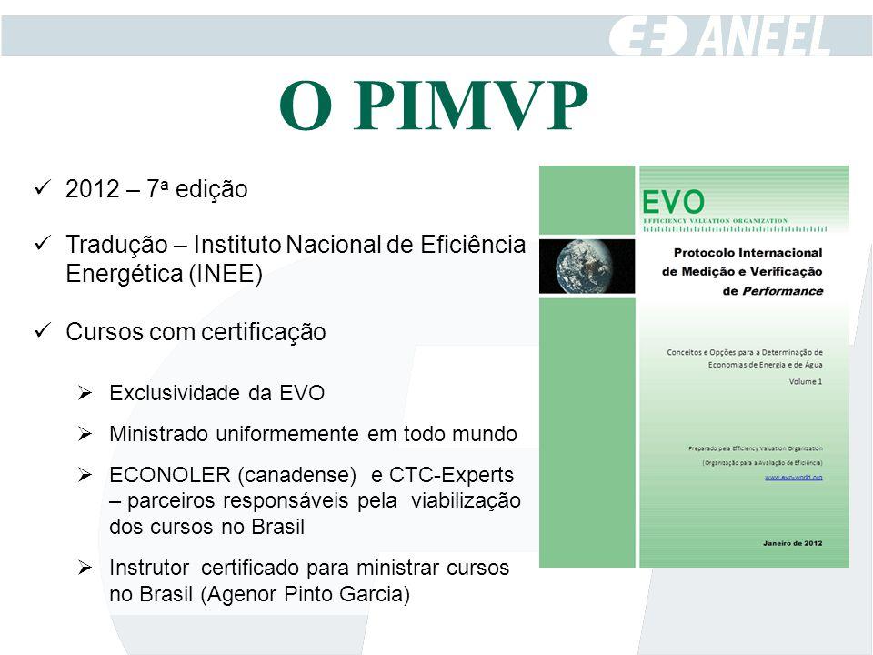2012 – 7 a edição Tradução – Instituto Nacional de Eficiência Energética (INEE) Cursos com certificação  Exclusividade da EVO  Ministrado uniformeme