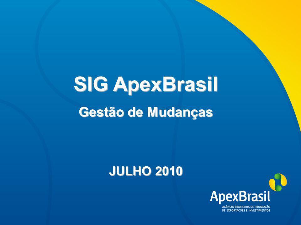 Título da apresentação SIG ApexBrasil Gestão de Mudanças JULHO 2010