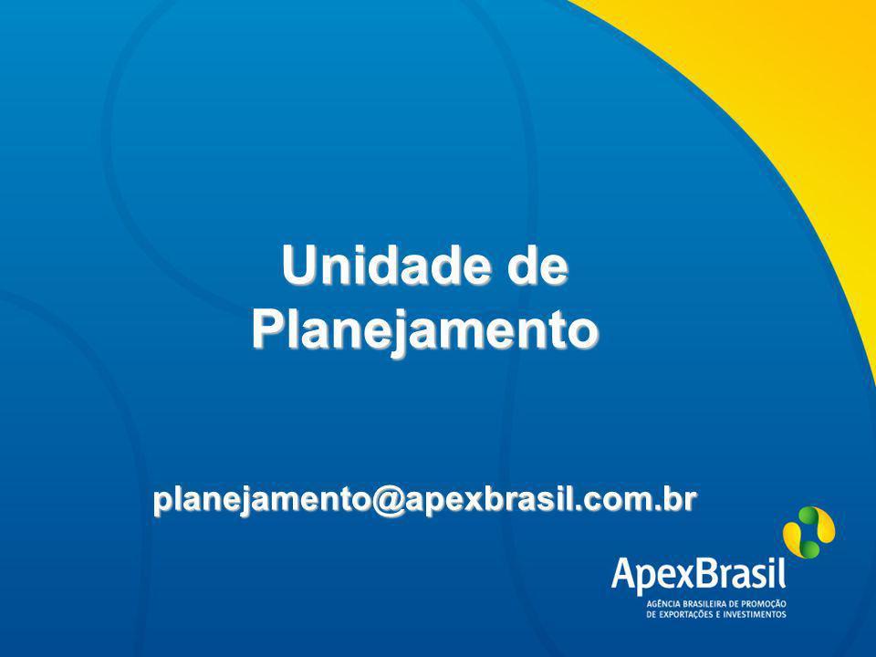 Avaliação e Encerramento Avaliação de ação Prestação de contas Encerramento do convênio Unidade de Planejamento planejamento@apexbrasil.com.br