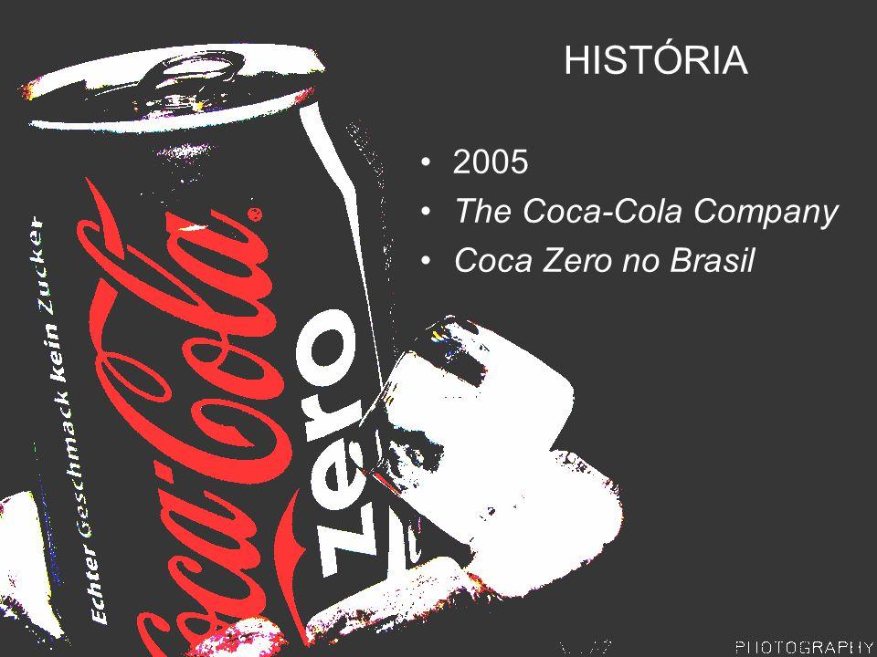 HISTÓRIA 2005 The Coca-Cola Company Coca Zero no Brasil