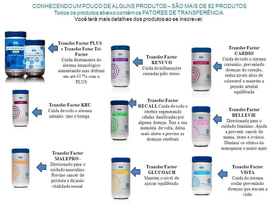 CONHECENDO UM POUCO DE ALGUNS PRODUTOS – SÃO MAIS DE 92 PRODUTOS Todos os produtos abaixo contém os FATORES DE TRANSFERÊNCIA Você terá mais detalhes dos produtos ao se inscrever.