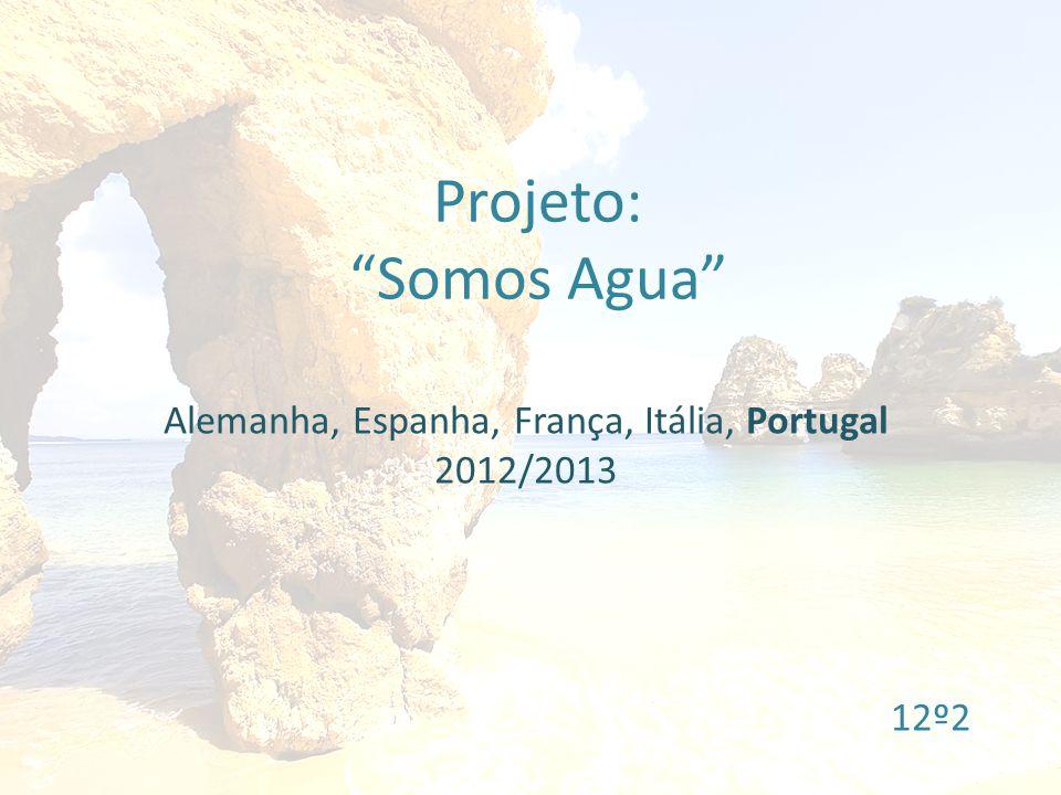 Projeto: Somos Agua Alemanha, Espanha, França, Itália, Portugal 2012/2013 12º2