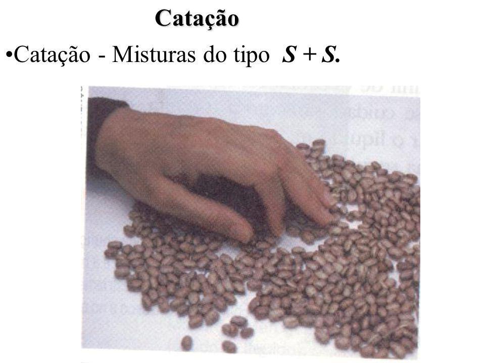Catação Catação - Misturas do tipo S + S.