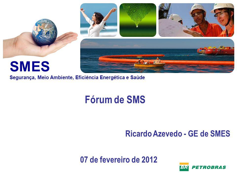 SMES Fórum de SMS SMES Segurança, Meio Ambiente, Eficiência Energética e Saúde Ricardo Azevedo - GE de SMES 07 de fevereiro de 2012