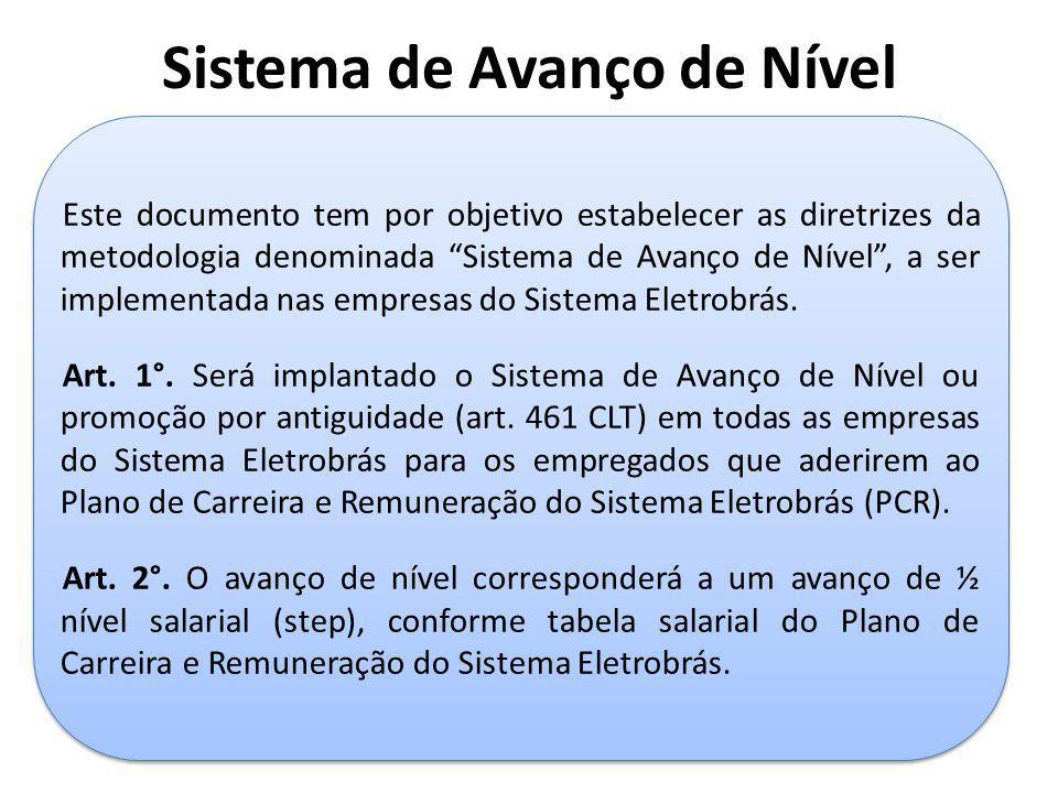 """Sistema de Avanço de Nível Este documento tem por objetivo estabelecer as diretrizes da metodologia denominada """"Sistema de Avanço de Nível"""", a ser imp"""