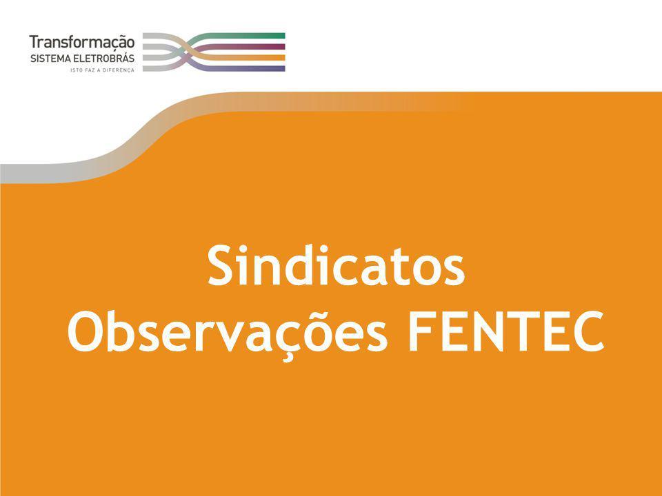 Sindicatos Observações FENTEC