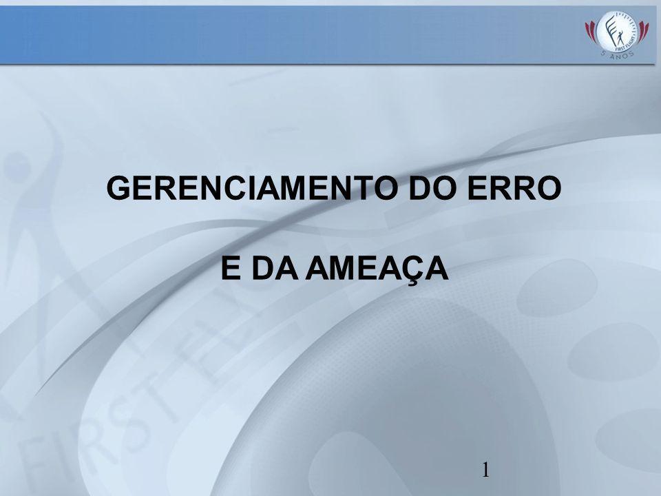 1 GERENCIAMENTO DO ERRO E DA AMEAÇA