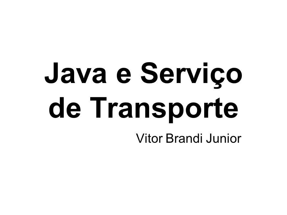 Java e Serviço de Transporte Vitor Brandi Junior