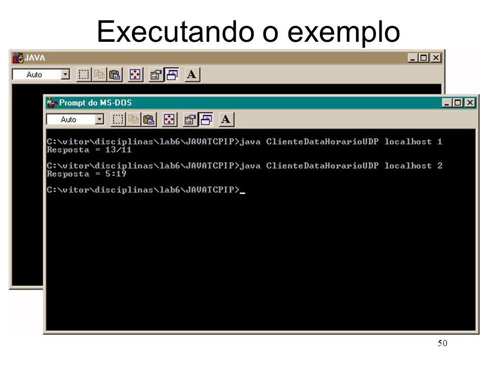 50 Executando o exemplo
