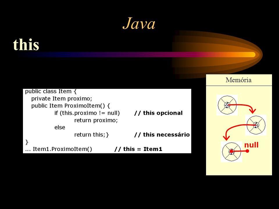 Memória Java this null