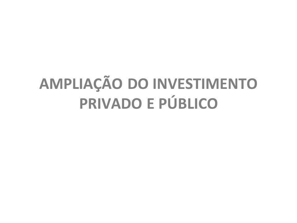 AMPLIAÇÃO DO INVESTIMENTO PRIVADO E PÚBLICO
