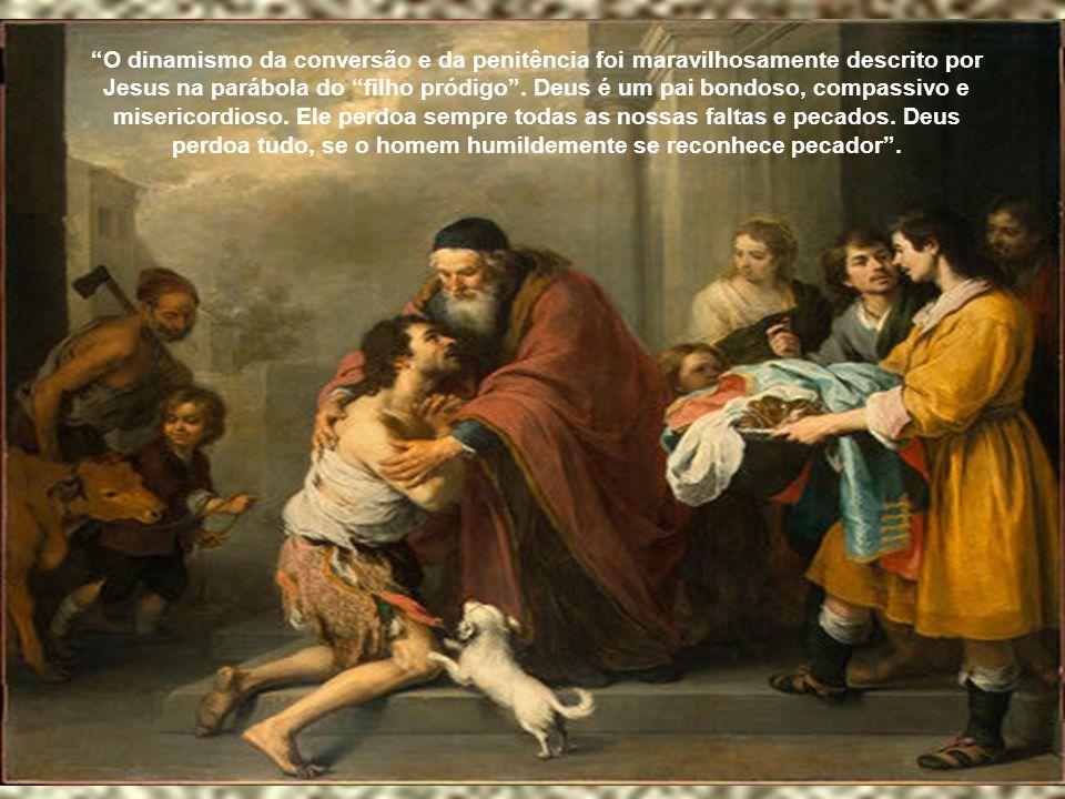 """""""Aqueles que se aproximam do sacramento da Penitência obtêm da misericórdia divina o perdão da ofensa feita a Deus a ao mesmo tempo são reconciliados"""