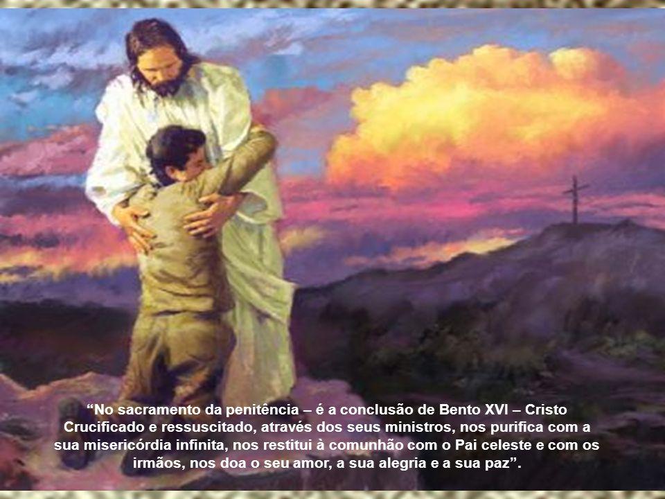 """""""Os pecados que cometemos nos distanciam de Deus, e se não são confessados humildemente confiando na misericórdia divina, chegam até mesmo a produzir"""