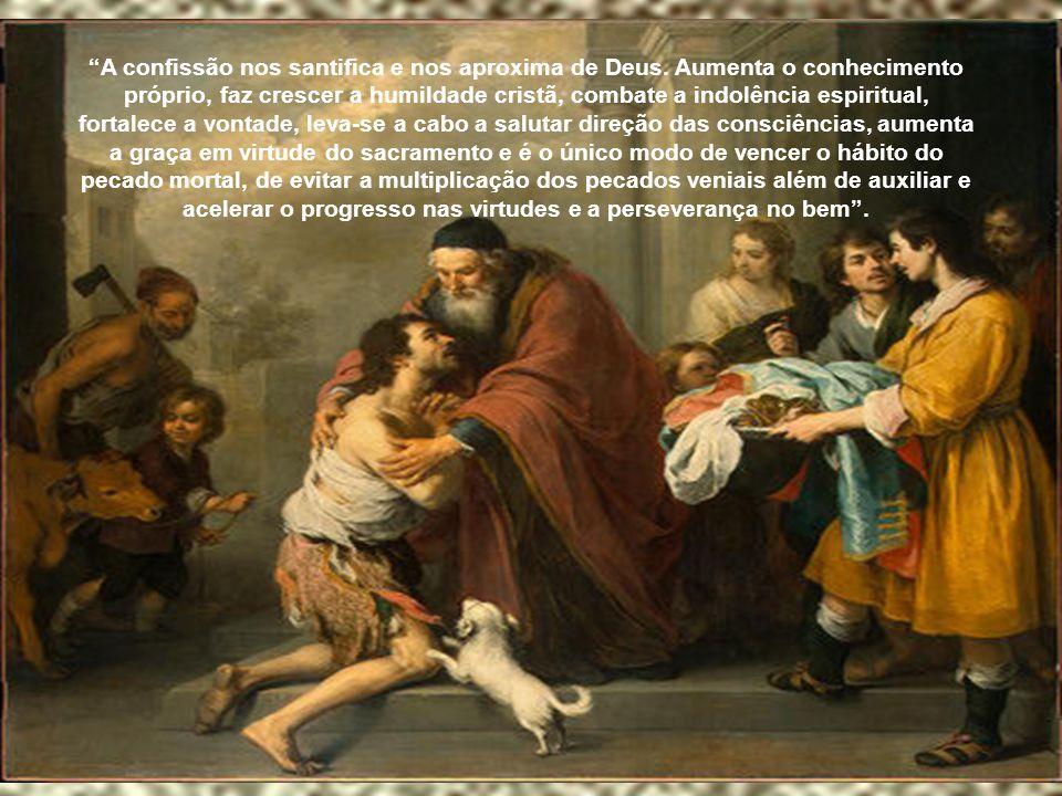 """""""Para se fazer uma boa confissão são necessárias 5 condições: a) um bom e honesto exame de consciência diante de Deus; b) arrependimento sincero por t"""