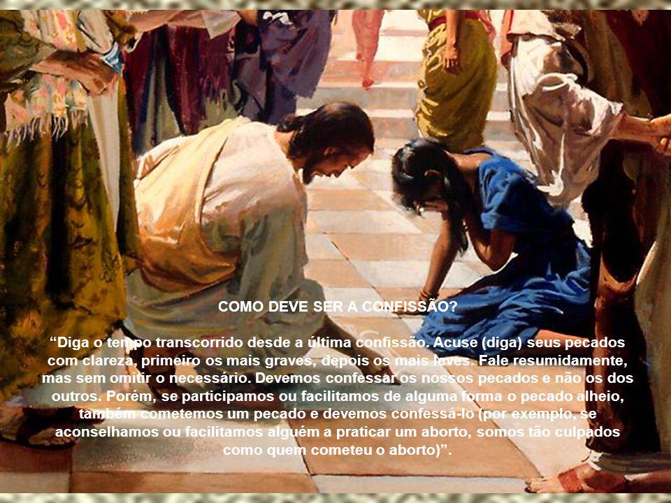 """""""A confissão nos santifica e nos aproxima de Deus. Aumenta o conhecimento próprio, faz crescer a humildade cristã, combate a indolência espiritual, fo"""