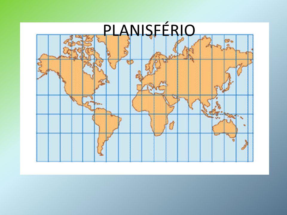 TIPOS MAIS COMUNS DE PROJEÇÕES A maioria dos mapas é feita a partir da projeção dos meridianos e paralelos curvos da esfera terrestre numa das figuras geométricas abaixo.