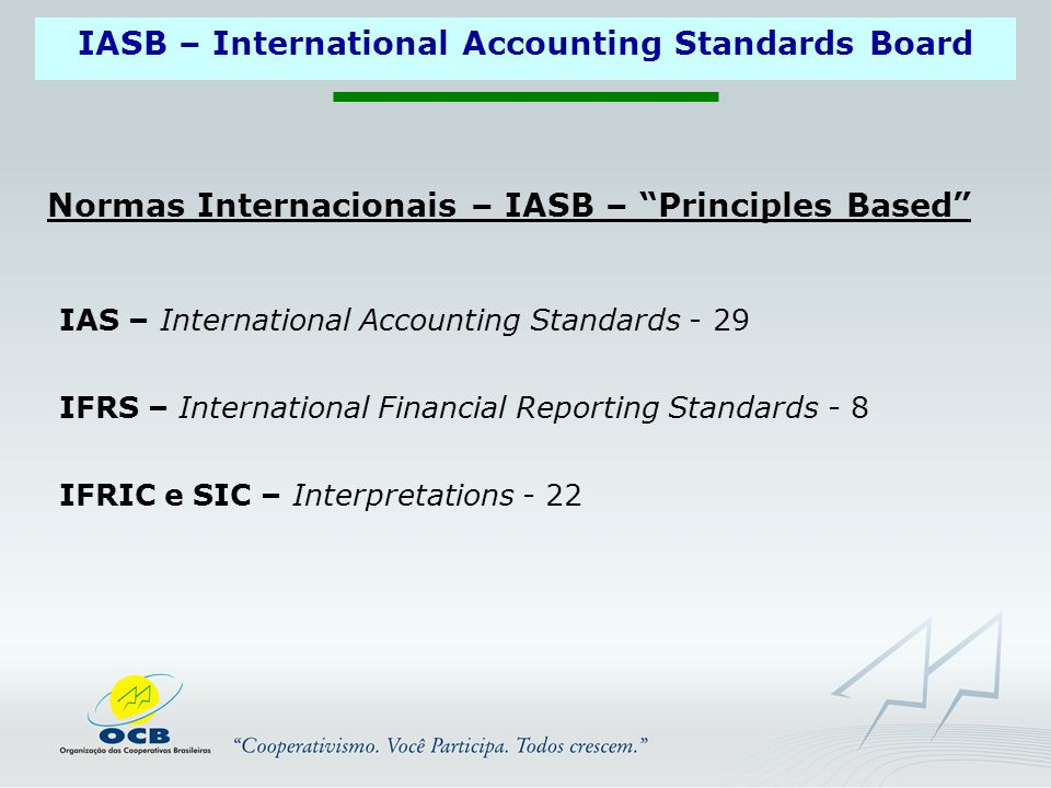 IASB – International Accounting Standards Board IAS – International Accounting Standards - 29 IFRS – International Financial Reporting Standards - 8 I