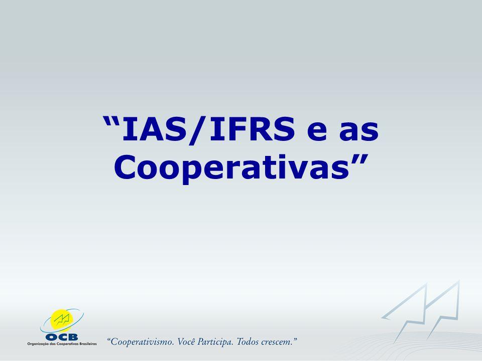 IAS/IFRS e as Cooperativas