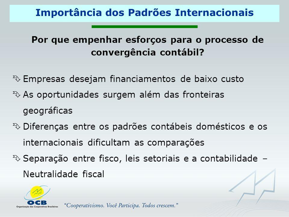 Importância dos Padrões Internacionais Por que empenhar esforços para o processo de convergência contábil.