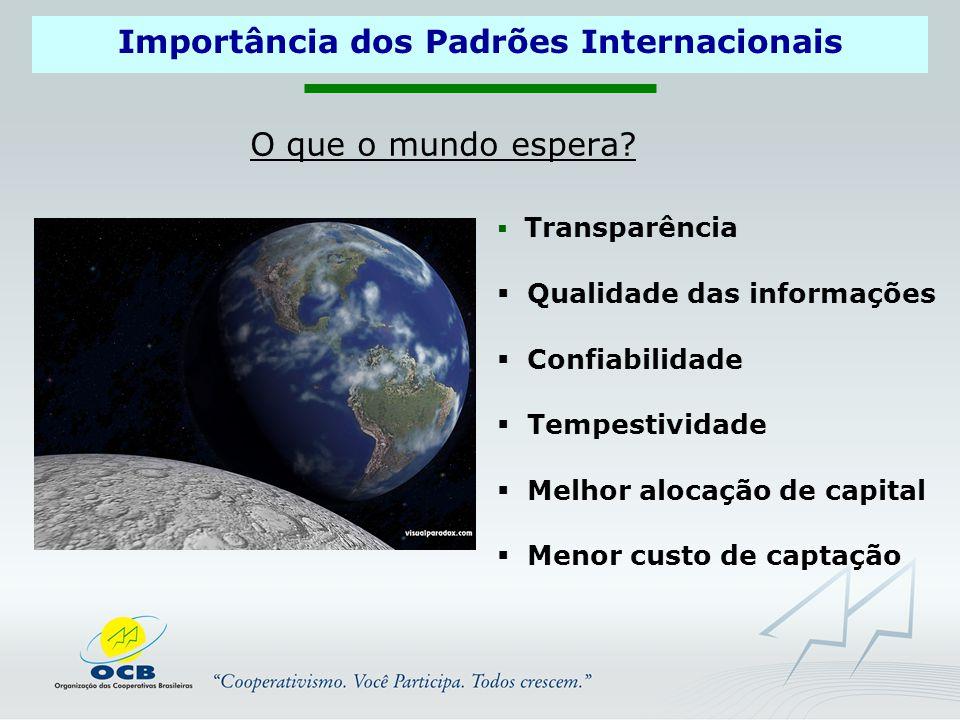 Importância dos Padrões Internacionais O que o mundo espera.