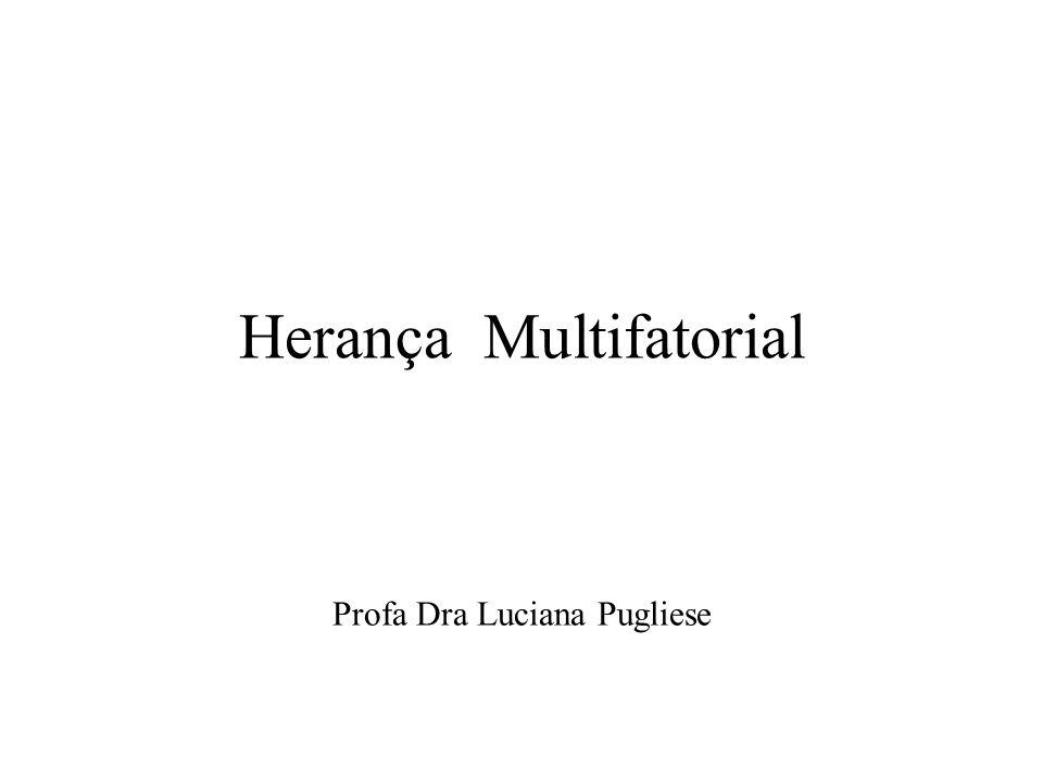 Herança Multifatorial Profa Dra Luciana Pugliese