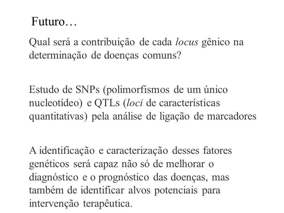 Qual será a contribuição de cada locus gênico na determinação de doenças comuns? Estudo de SNPs (polimorfismos de um único nucleotídeo) e QTLs (loci d