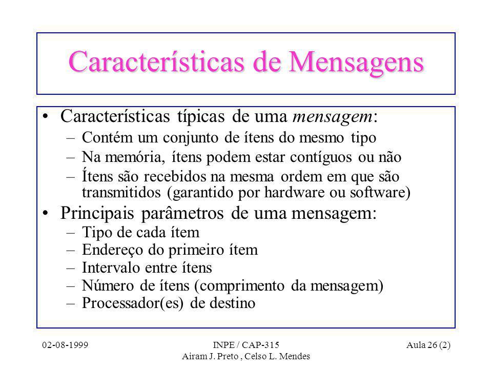 02-08-1999INPE / CAP-315 Airam J. Preto, Celso L.
