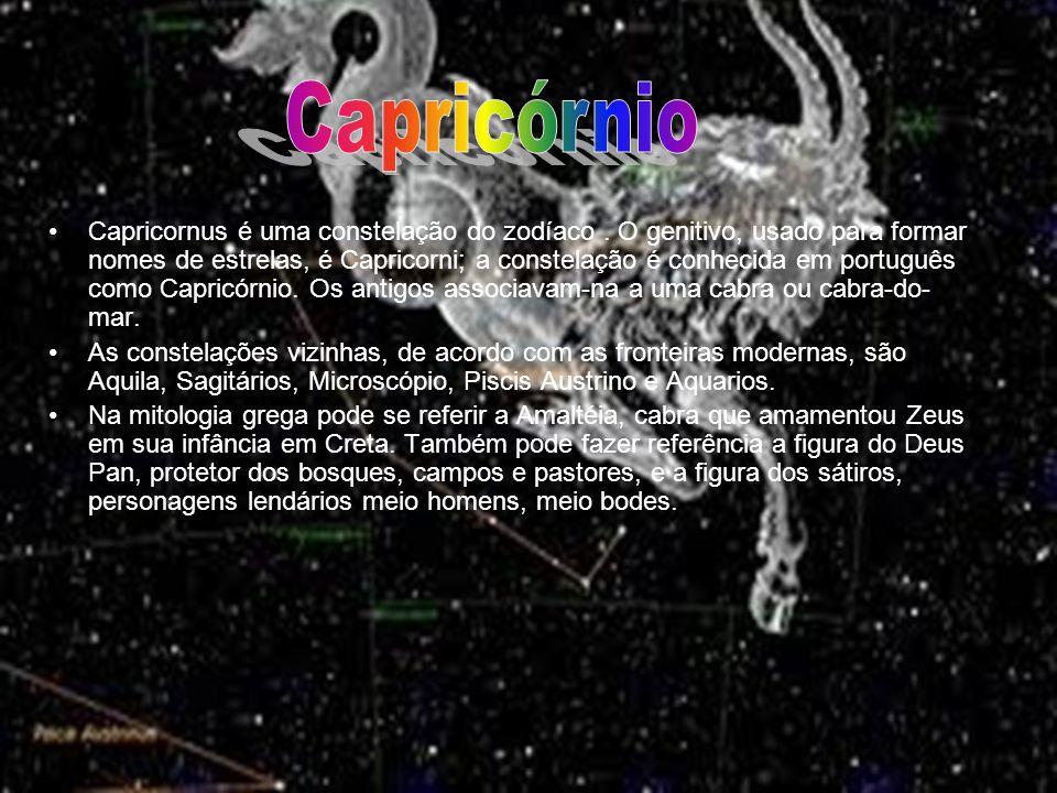 Capricornus é uma constelação do zodíaco. O genitivo, usado para formar nomes de estrelas, é Capricorni; a constelação é conhecida em português como C
