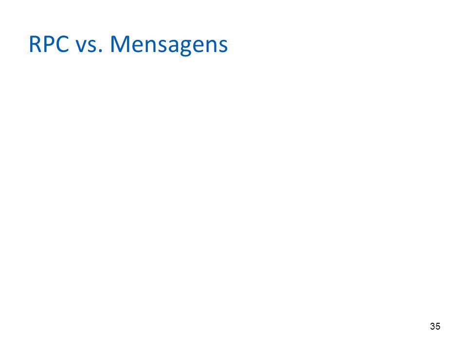 35 RPC vs. Mensagens