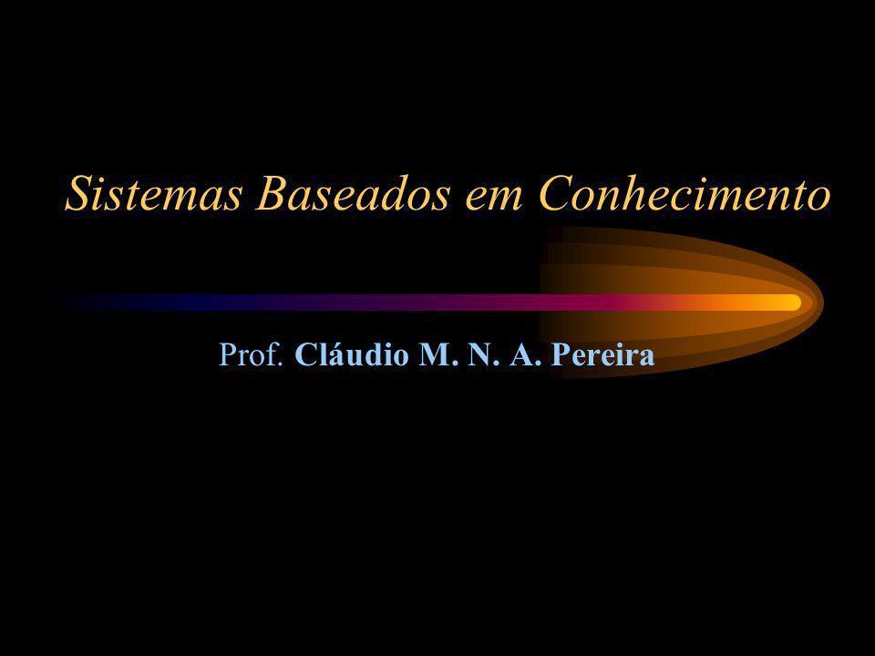 Sistemas Baseados em Conhecimento Prof. Cláudio M. N. A. Pereira
