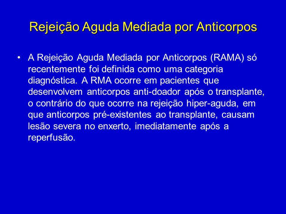 Rejeição Aguda Mediada por Anticorpos A Rejeição Aguda Mediada por Anticorpos (RAMA) só recentemente foi definida como uma categoria diagnóstica. A RM