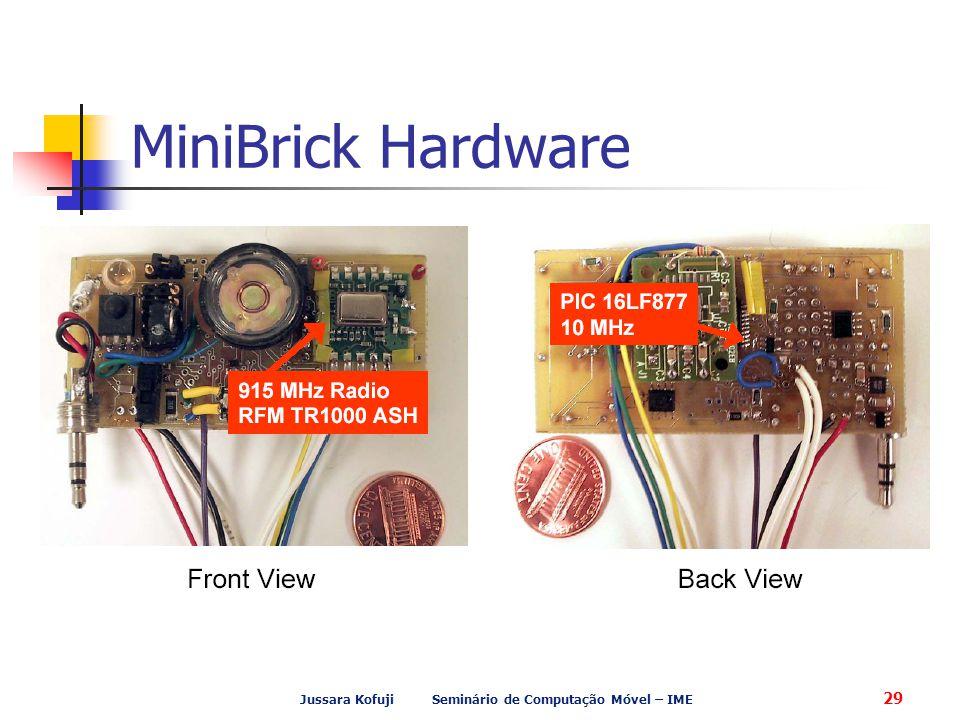 Jussara Kofuji Seminário de Computação Móvel – IME 29 MiniBrick Hardware
