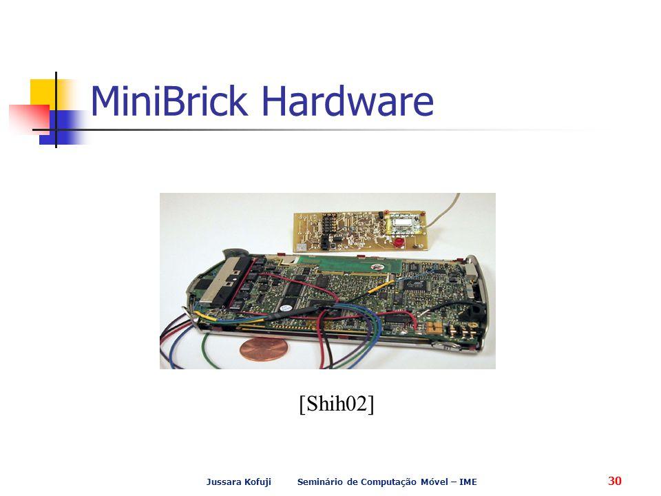 Jussara Kofuji Seminário de Computação Móvel – IME 30 MiniBrick Hardware [Shih02]