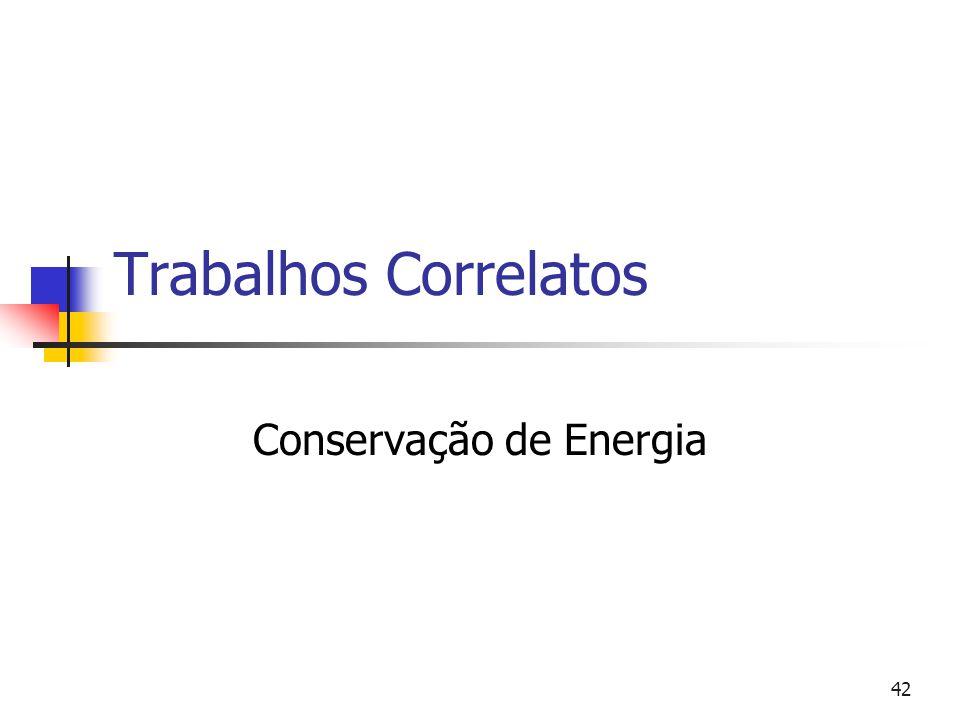 42 Trabalhos Correlatos Conservação de Energia